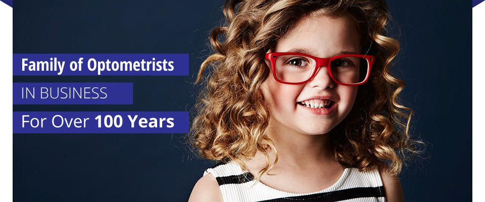 Family of Optometrists in business for over 100 years | child with glasses